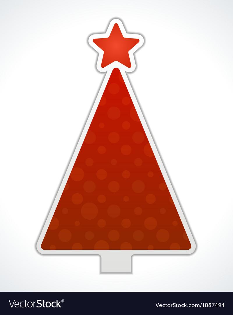 Christmas tree label design element vector | Price: 1 Credit (USD $1)