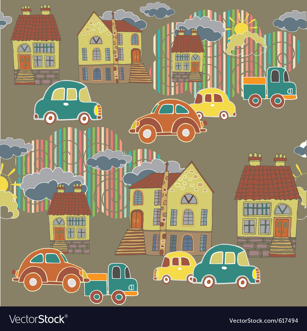 City and town pattern vector | Price: 1 Credit (USD $1)