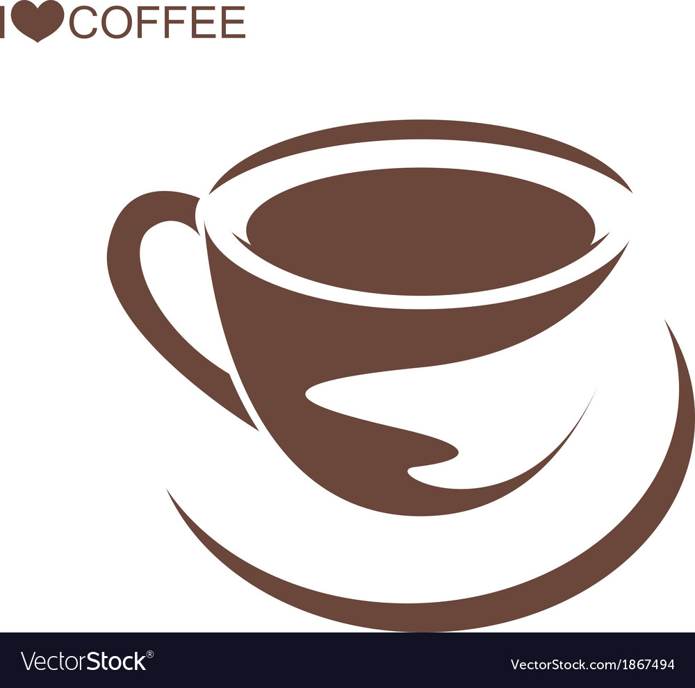 Coffee cup with plate vector | Price: 1 Credit (USD $1)