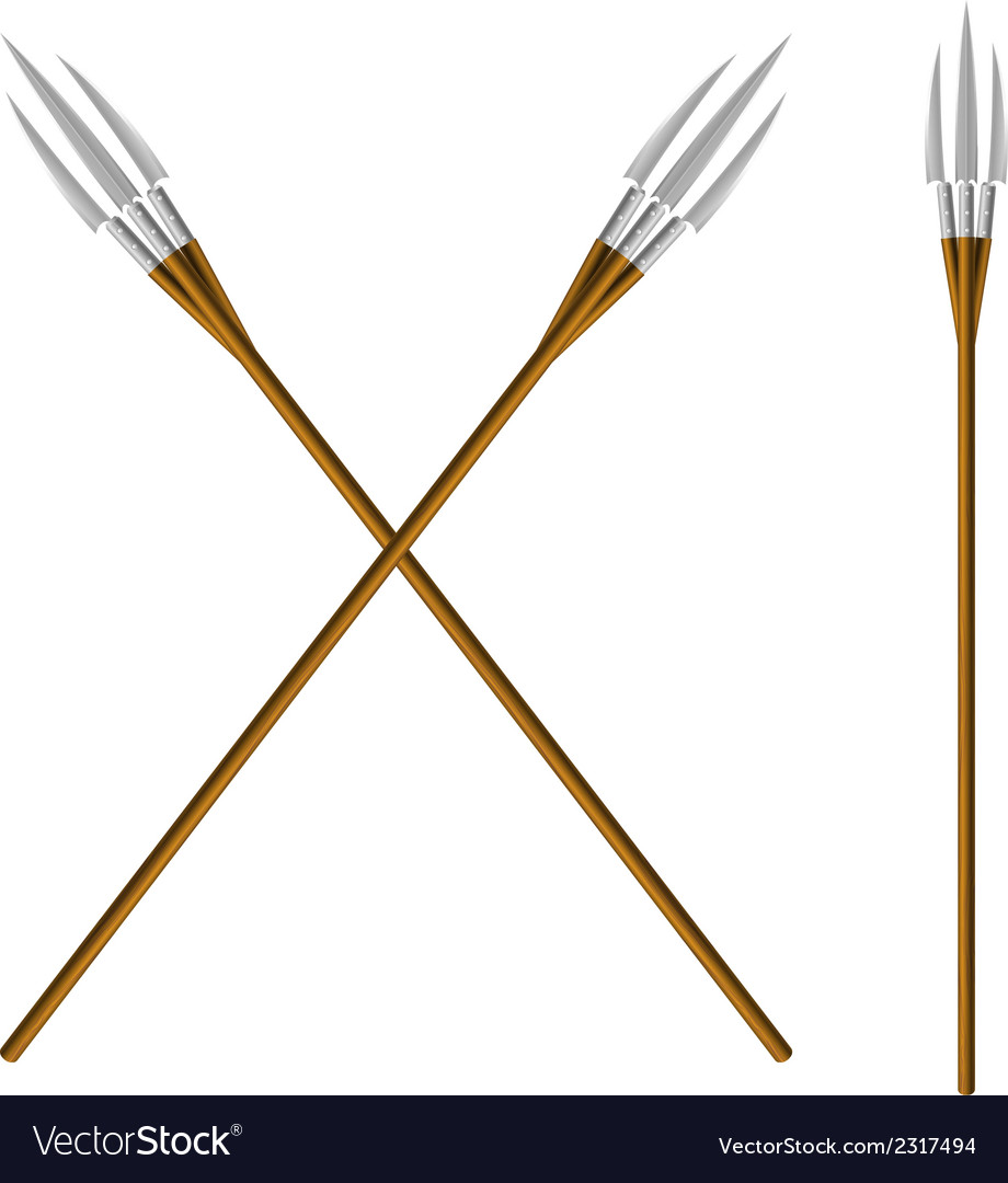 Crossed fantastic forks vector | Price: 1 Credit (USD $1)