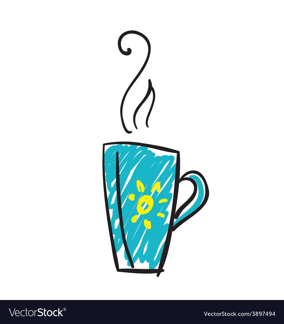 Doodle cup of tea vector   Price: 1 Credit (USD $1)
