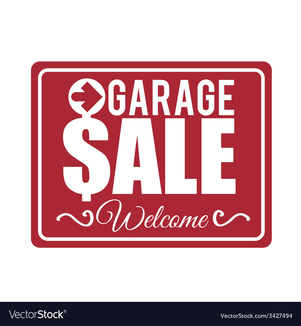 Garage sale design vector | Price: 1 Credit (USD $1)