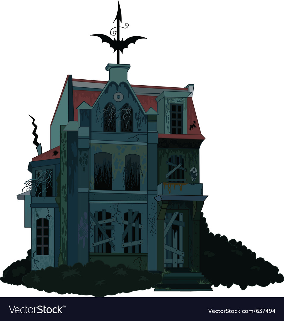 Of a spooky haunted ghost house vector | Price: 1 Credit (USD $1)