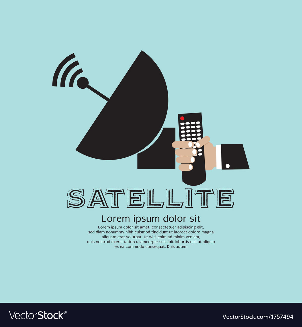 Satellite vector | Price: 1 Credit (USD $1)