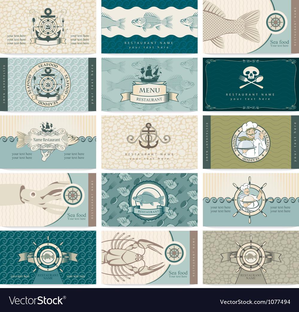 Sea cards vector | Price: 3 Credit (USD $3)