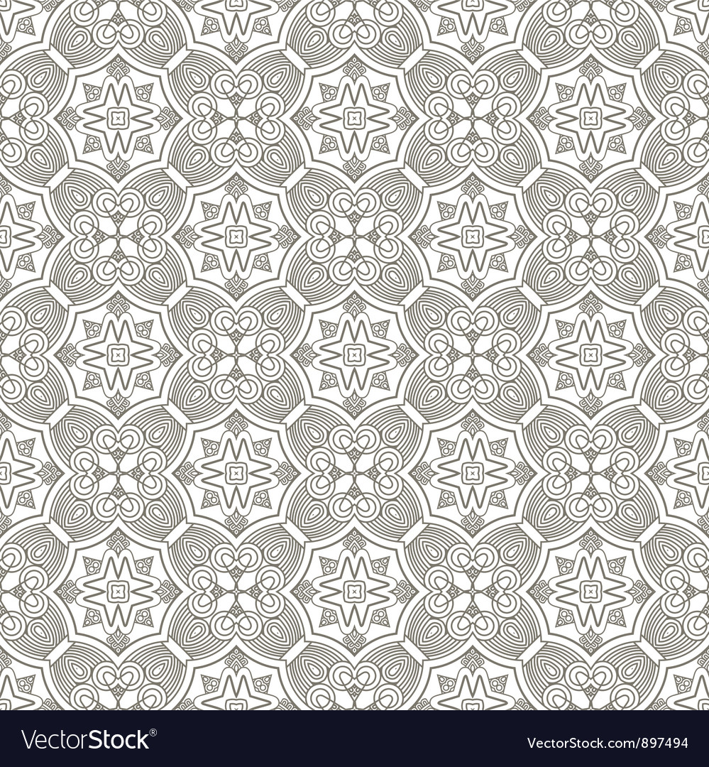 Seamless ornamental ethnicity pattern vector | Price: 1 Credit (USD $1)
