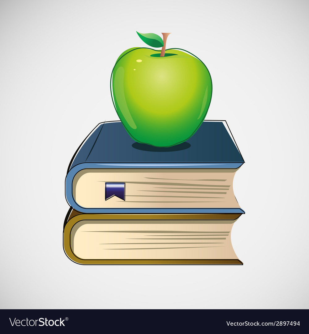 Set of different books stacked design vector