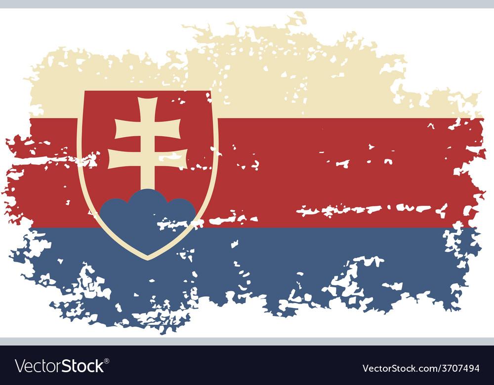 Slovakia grunge flag vector | Price: 1 Credit (USD $1)