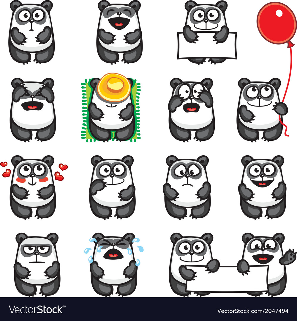 Smiley pandas vector | Price: 1 Credit (USD $1)
