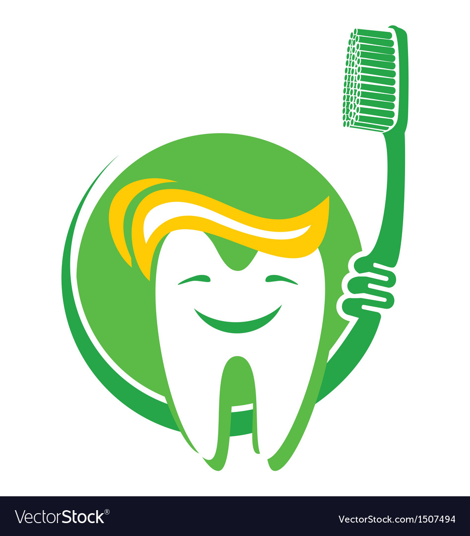 Tooth and toothbrush vector | Price: 1 Credit (USD $1)