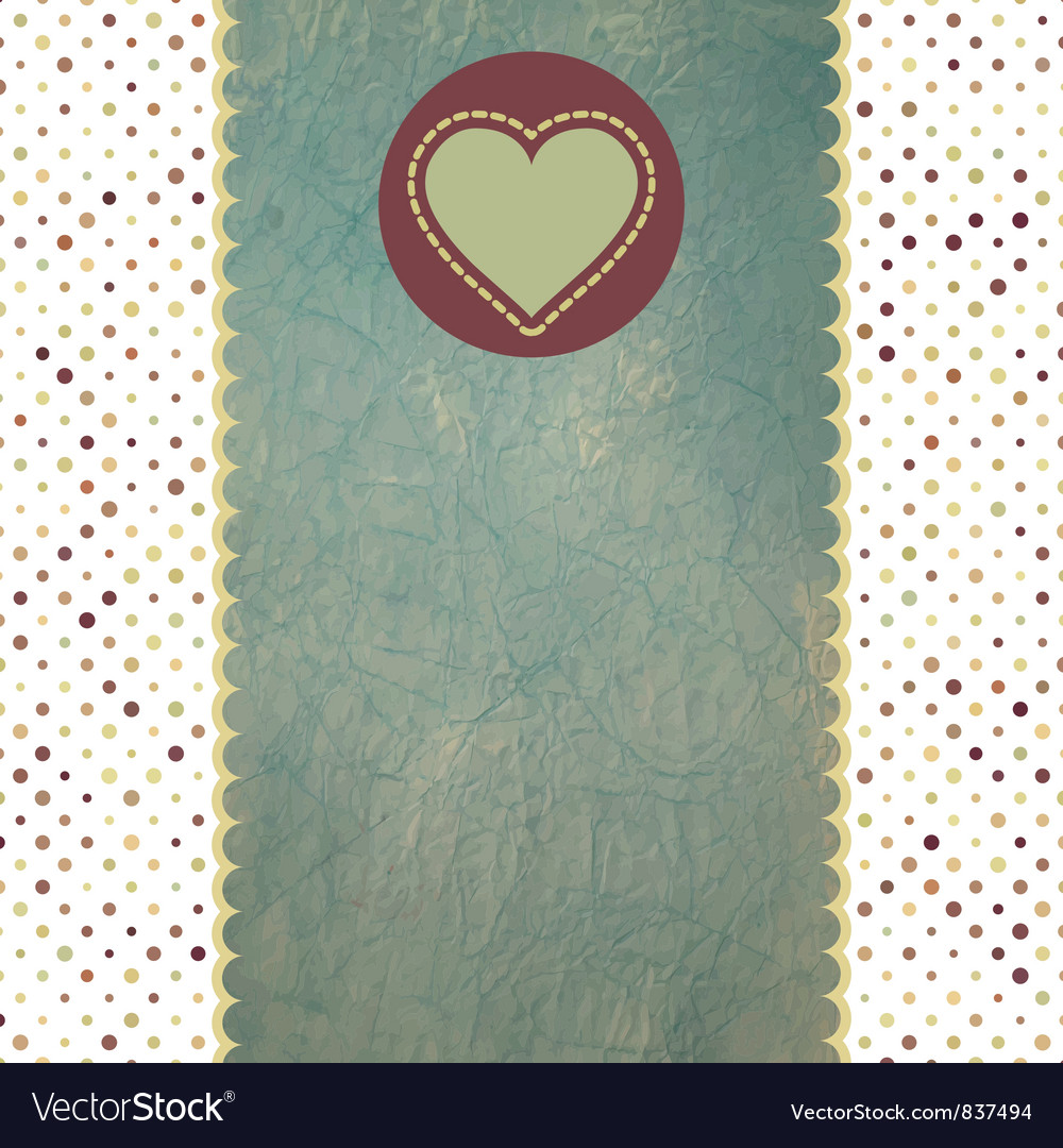 Valentines hearts card vector | Price: 1 Credit (USD $1)