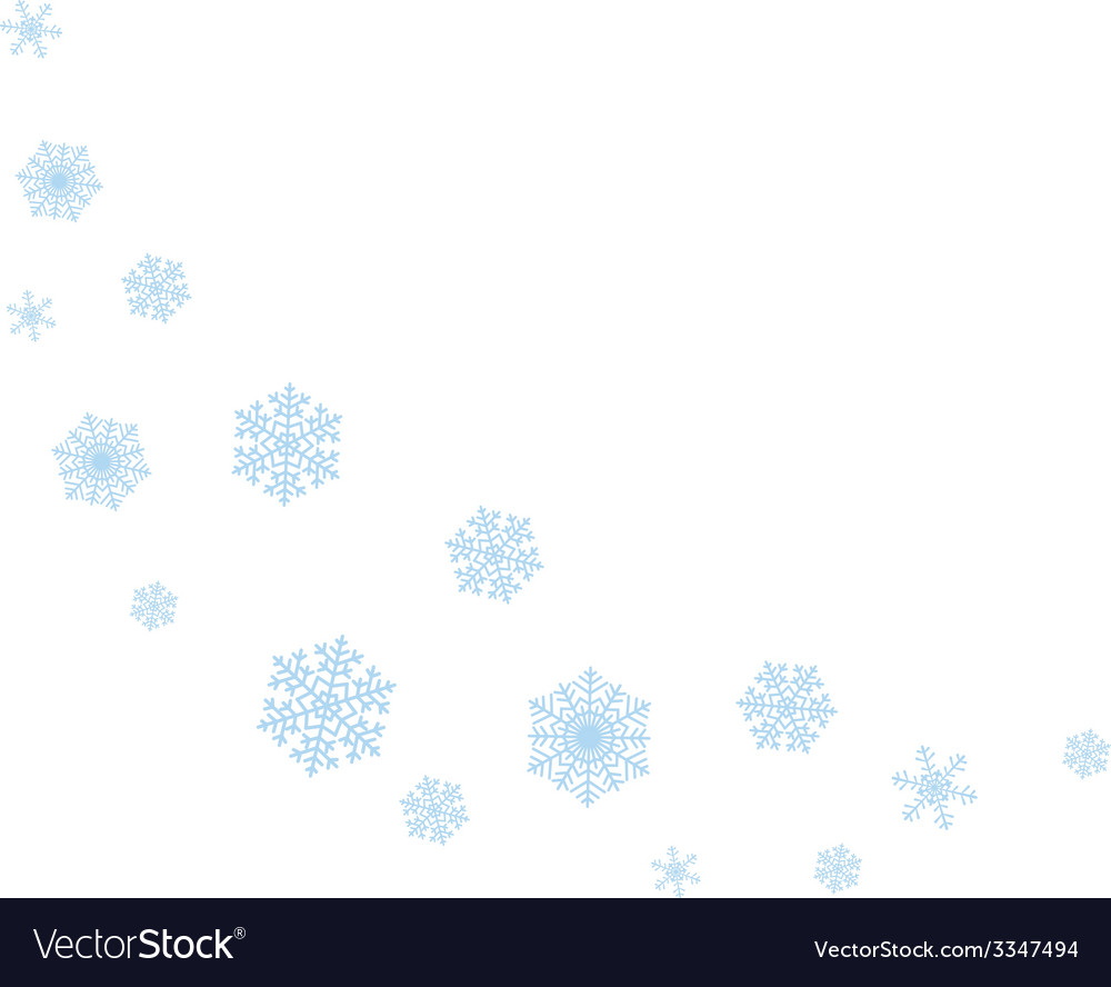 Wave of snowflakes vector   Price: 1 Credit (USD $1)