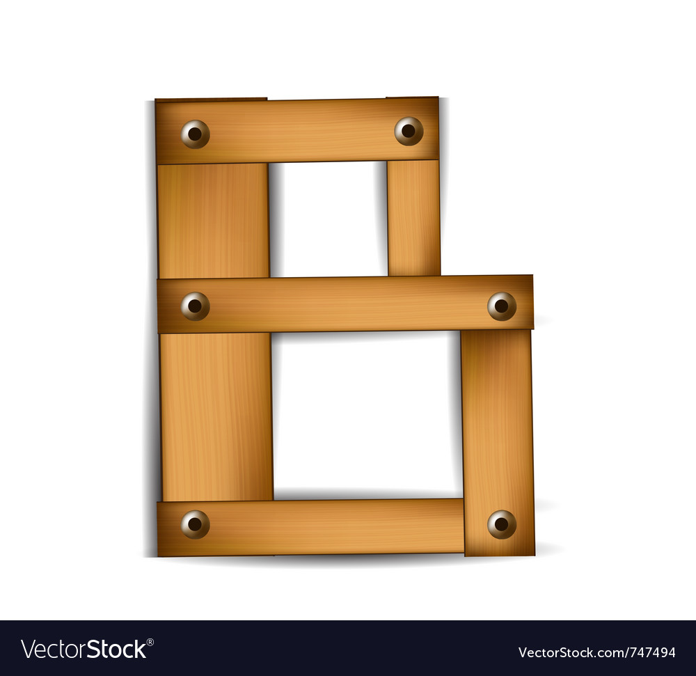 Wooden type b vector | Price: 1 Credit (USD $1)