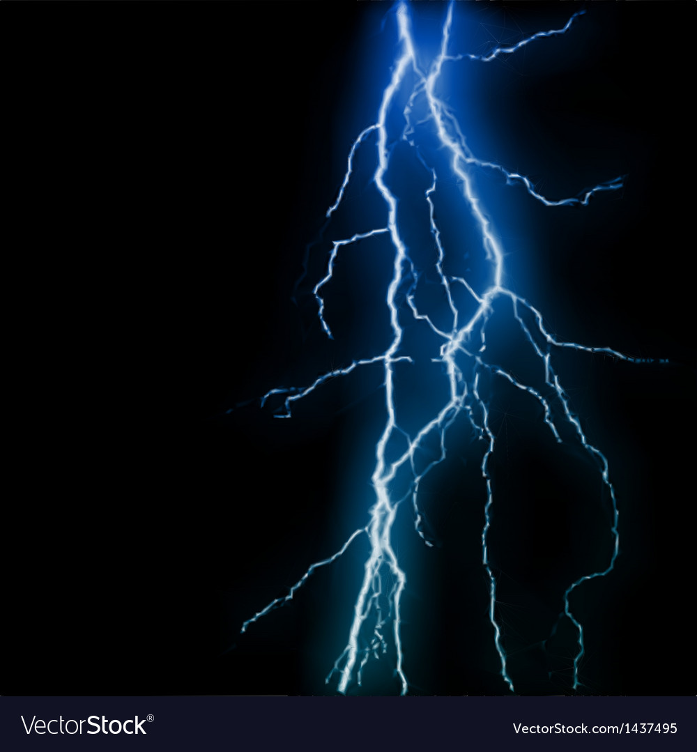 Abstract blue lightning flash background vector | Price: 1 Credit (USD $1)