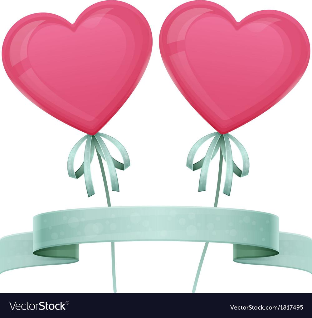 Baloon heart vector | Price: 1 Credit (USD $1)