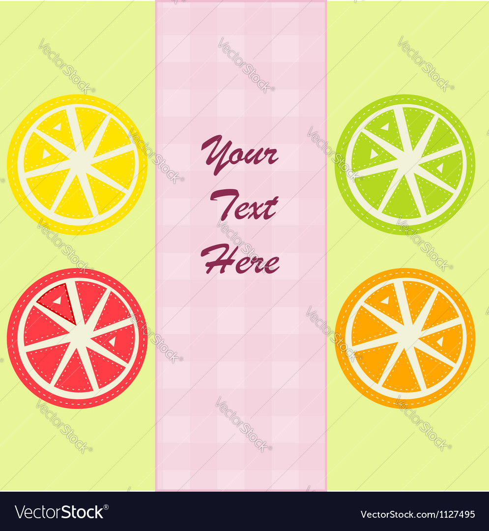 Citrus fruits slices vector | Price: 1 Credit (USD $1)