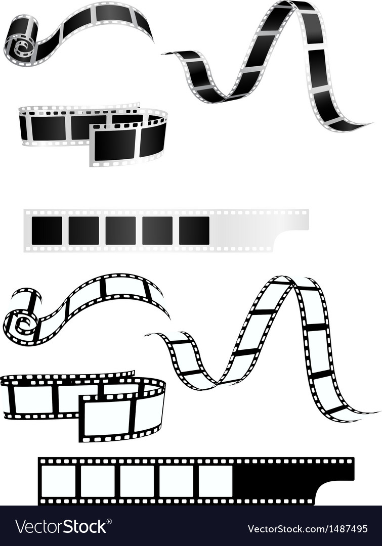 Film strip background collection vector | Price: 1 Credit (USD $1)