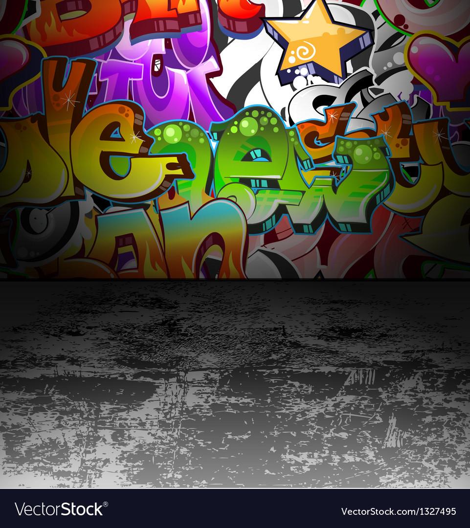 Graffiti wall urban street art painting vector | Price: 1 Credit (USD $1)
