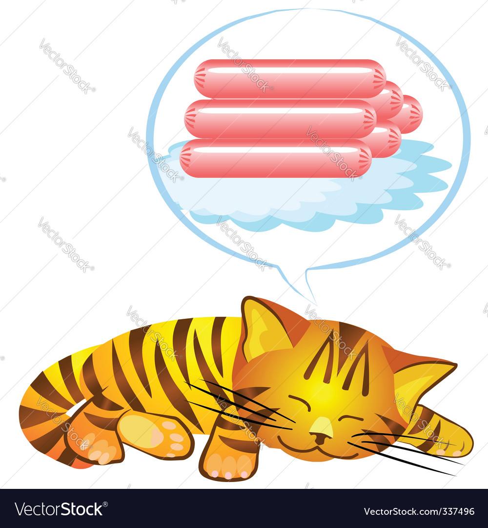 Cats dream vector | Price: 1 Credit (USD $1)