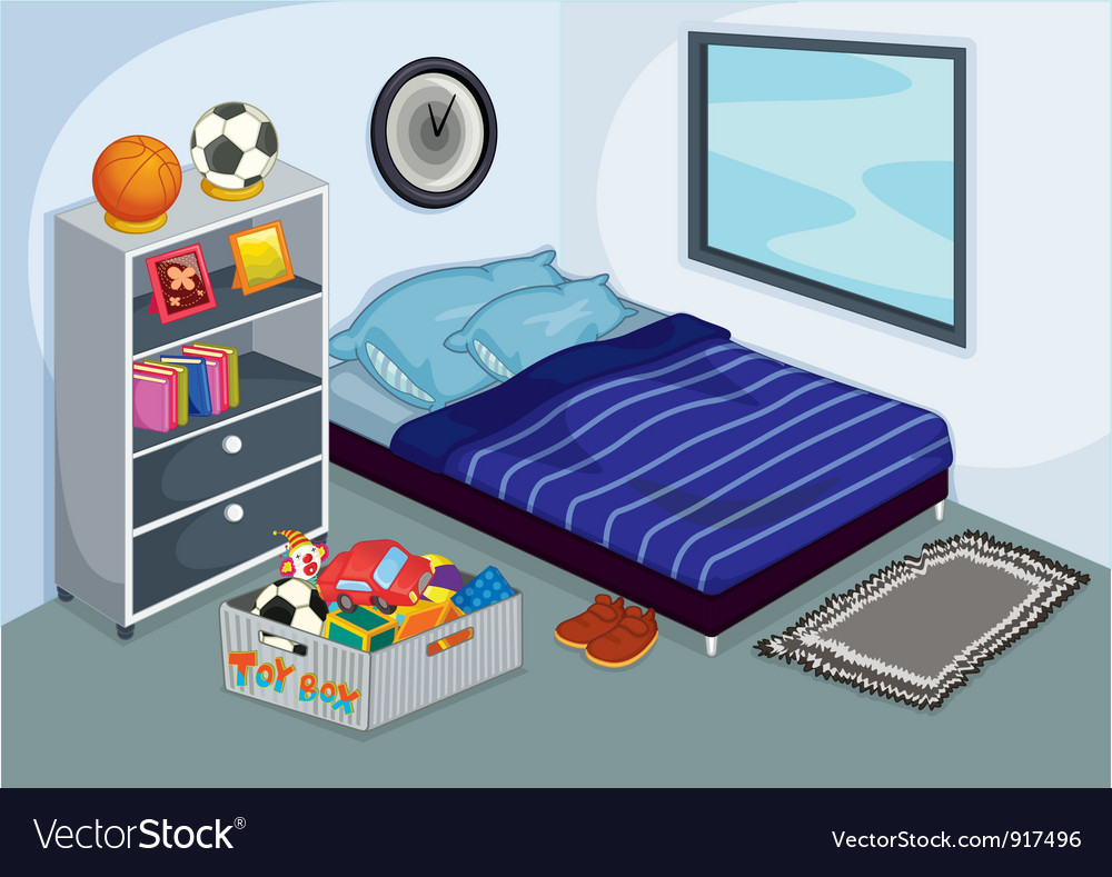 Childrens bedroom vector | Price: 3 Credit (USD $3)
