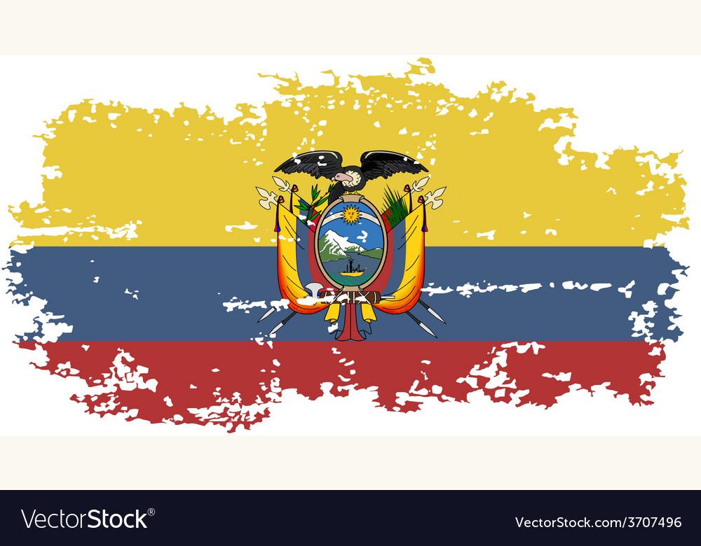 Ecuadorian grunge flag vector   Price: 1 Credit (USD $1)