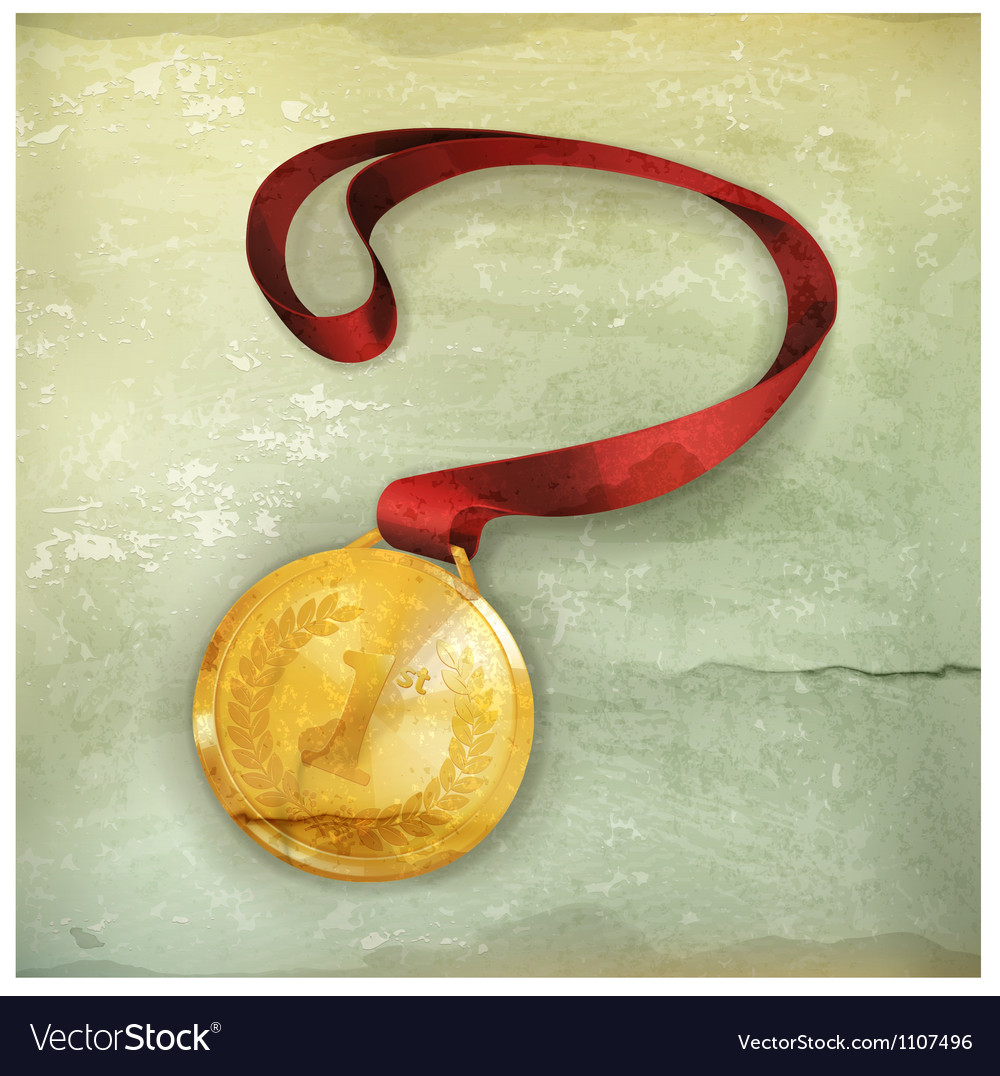 Gold medal old-style vector | Price: 3 Credit (USD $3)