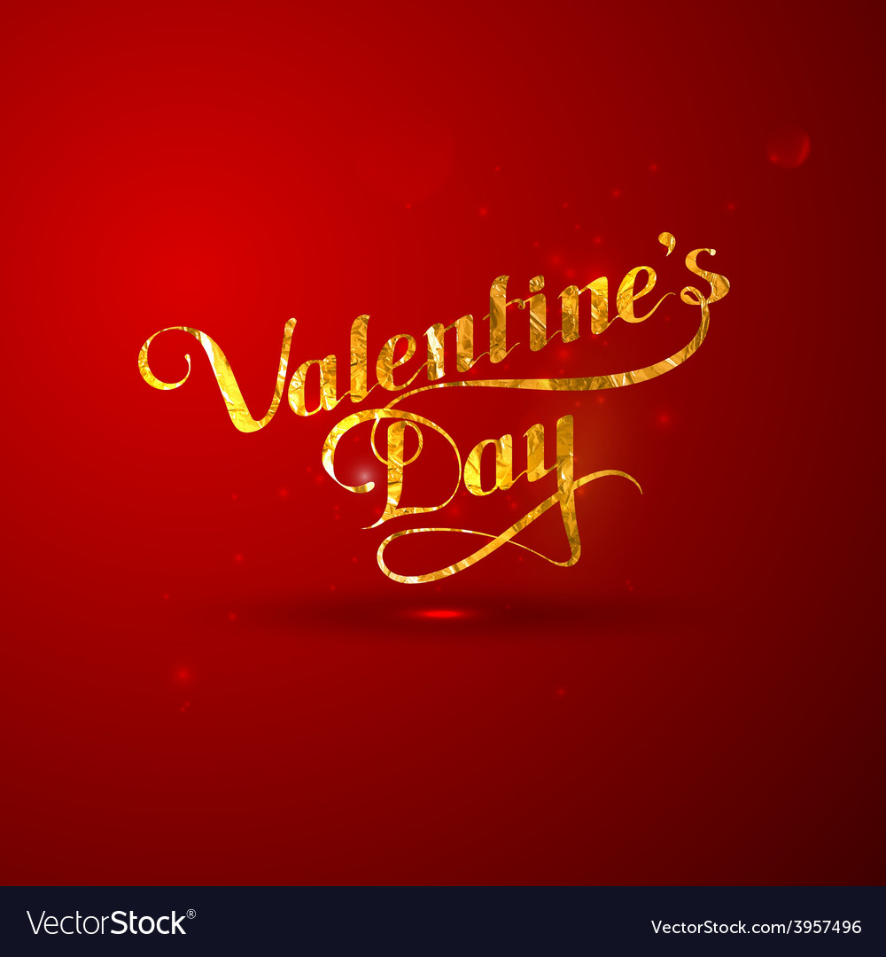 Golden foil st valentines day vector | Price: 1 Credit (USD $1)