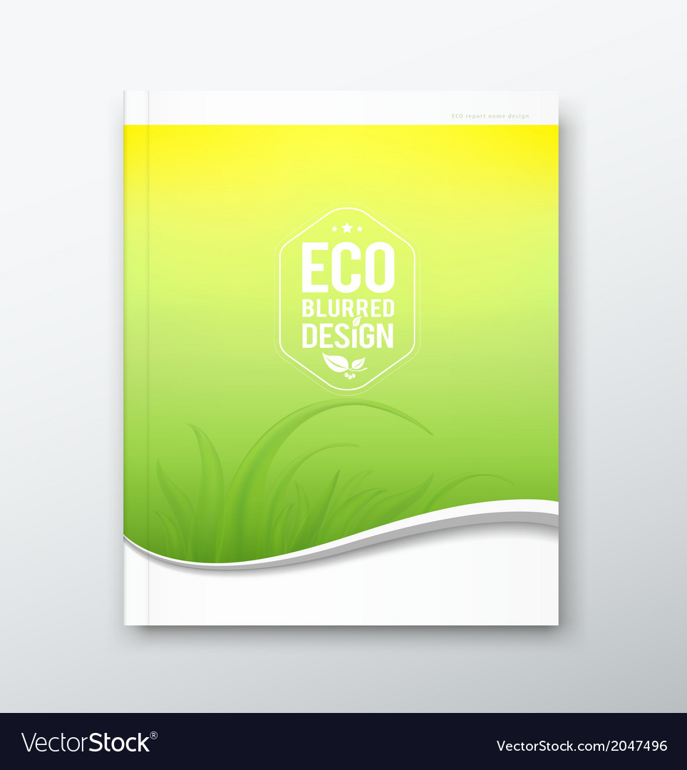 Green leaf ecology concept of annual report vector | Price: 1 Credit (USD $1)