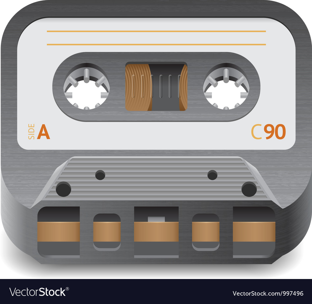 Icon for audio cassette vector | Price: 3 Credit (USD $3)