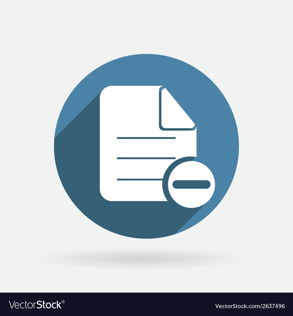 Page of the document circle blue icon with shadow vector | Price: 1 Credit (USD $1)