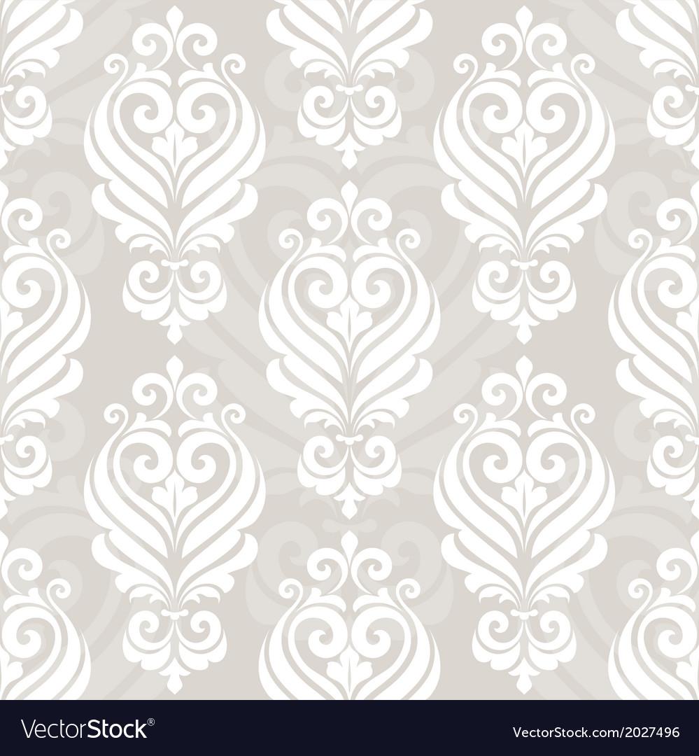 Seamless damask pattern vector   Price: 1 Credit (USD $1)