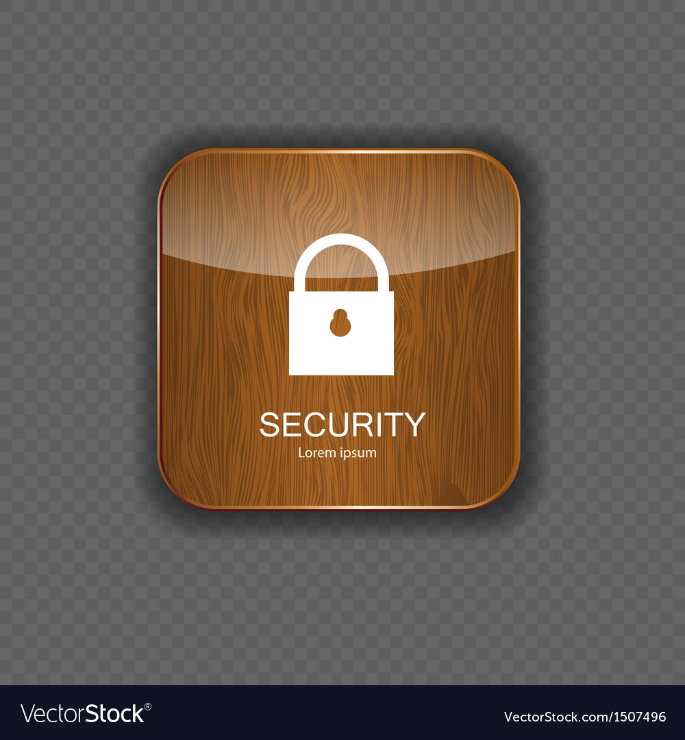 Security wood application icons vector | Price: 1 Credit (USD $1)