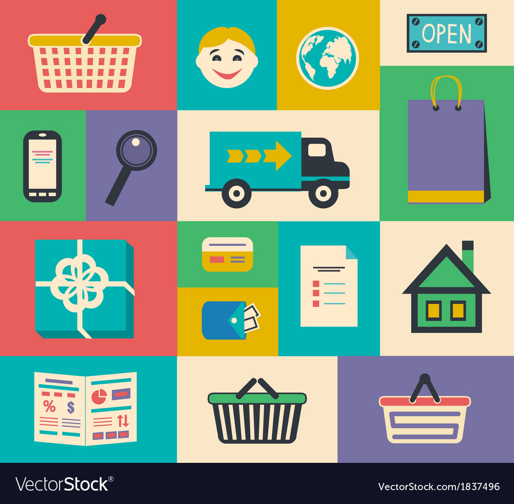 Set of e-commerce interface elements vector | Price: 1 Credit (USD $1)
