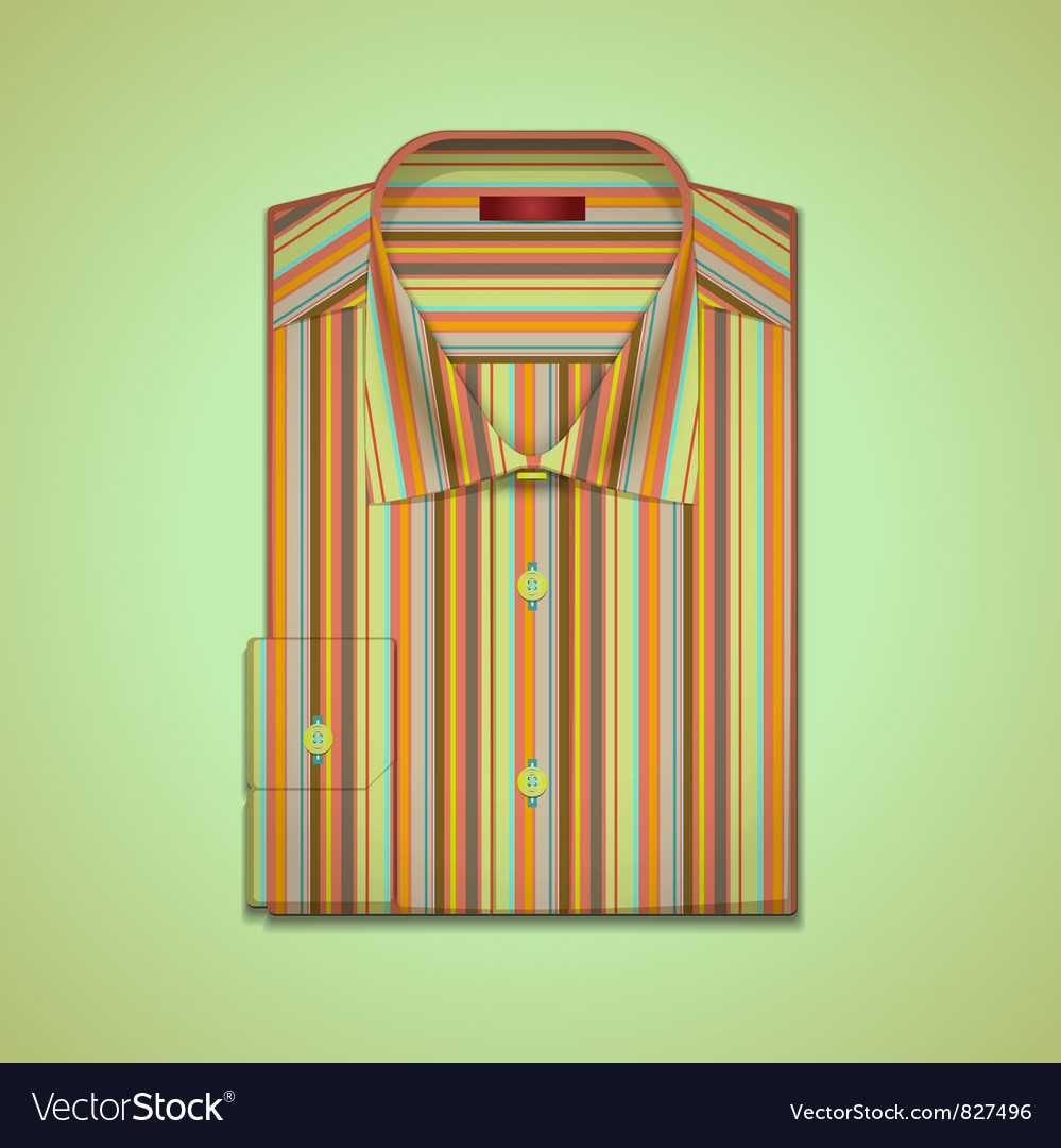 Shirt in colorful stripes vector | Price: 3 Credit (USD $3)