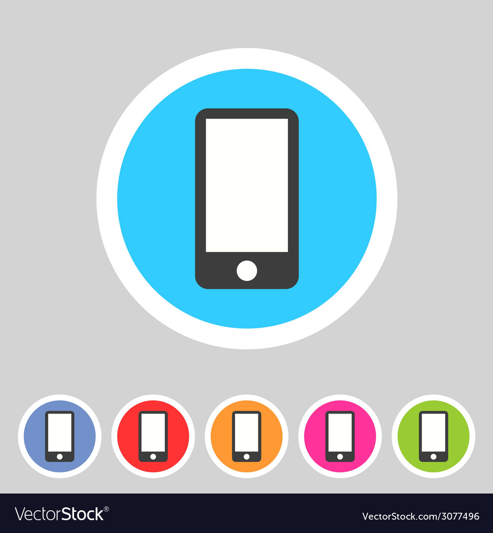 Smartphone tablet flat icon badge vector | Price: 1 Credit (USD $1)