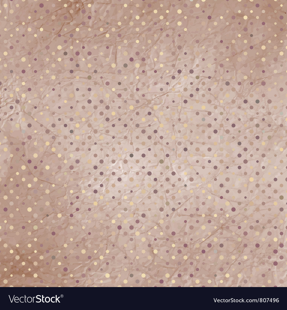 Vintage polka dots pattern vector | Price: 1 Credit (USD $1)