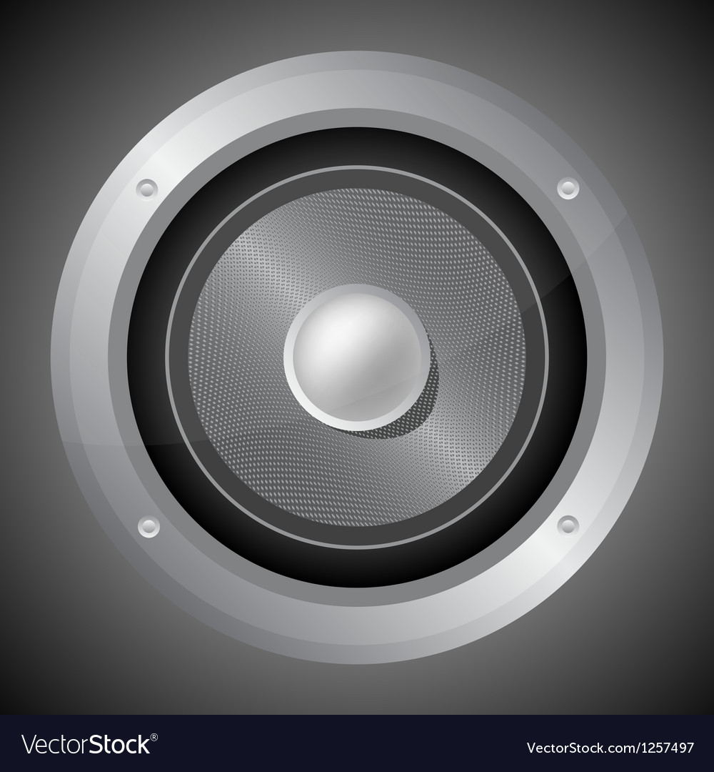 Audio speaker isolated on black background vector | Price: 1 Credit (USD $1)