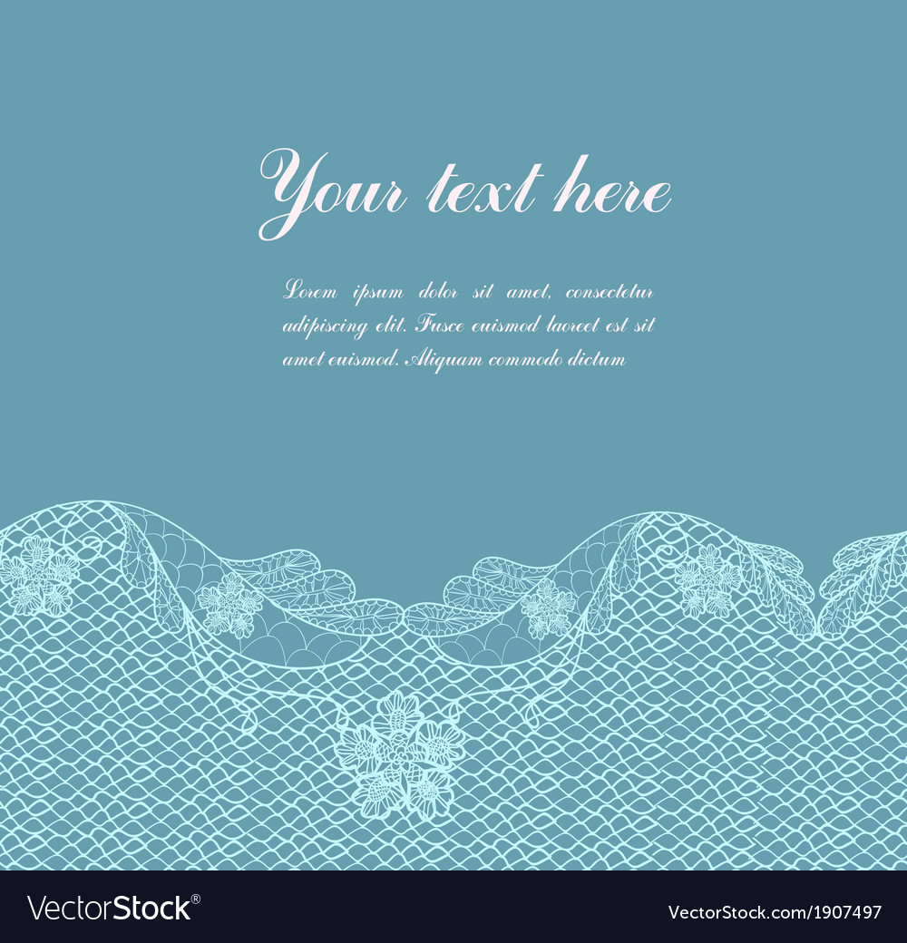 Blue vintage lacy border vector | Price: 1 Credit (USD $1)