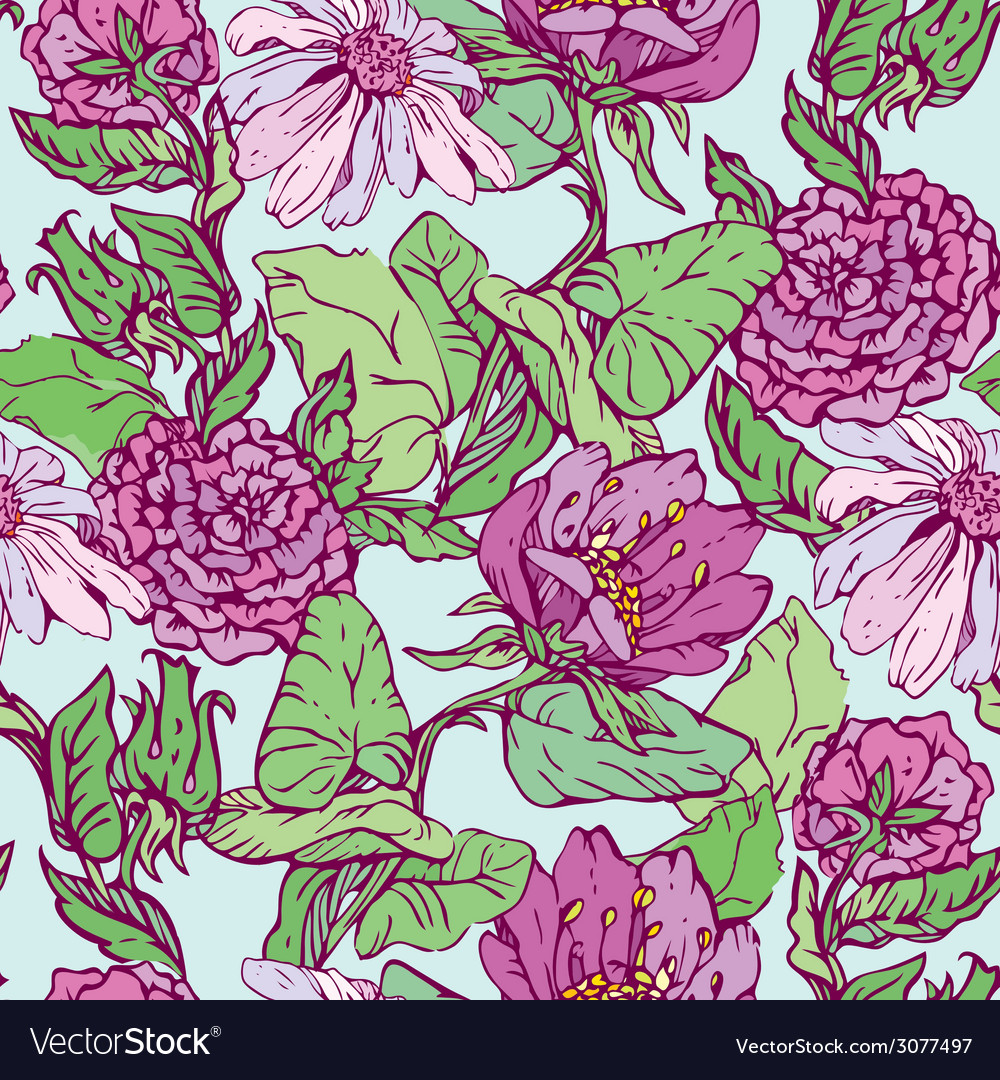 Flowers handdrawn 09 380 vector | Price: 1 Credit (USD $1)