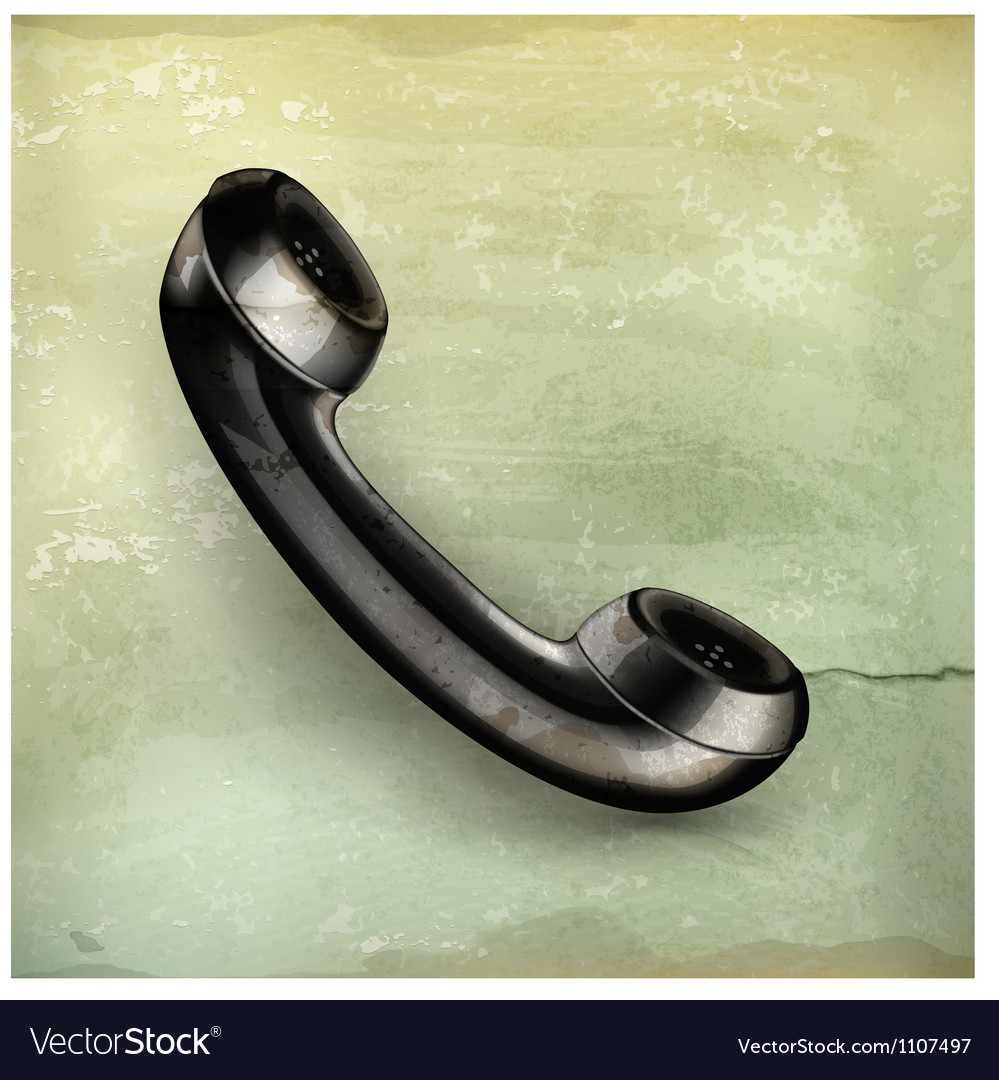 Handset old-style vector | Price: 3 Credit (USD $3)