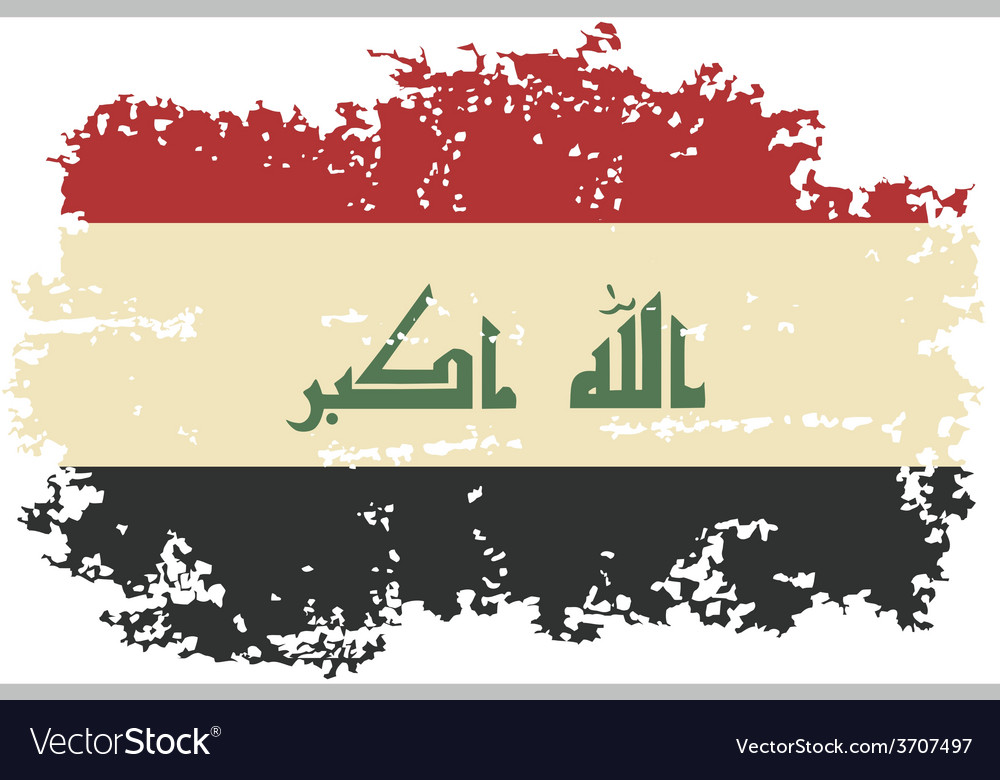 Iraqi grunge flag vector | Price: 1 Credit (USD $1)