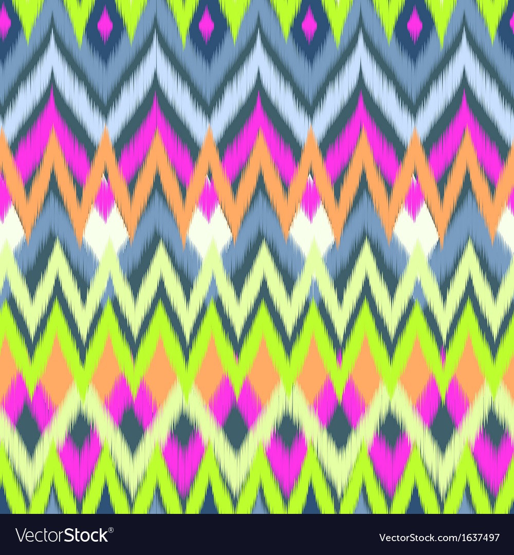 Neon ikat print vector | Price: 1 Credit (USD $1)