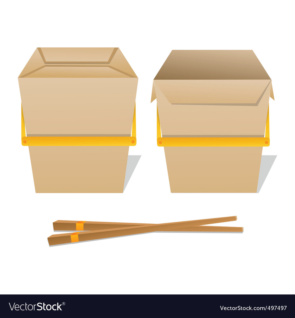 Noodle boxes vector | Price: 1 Credit (USD $1)