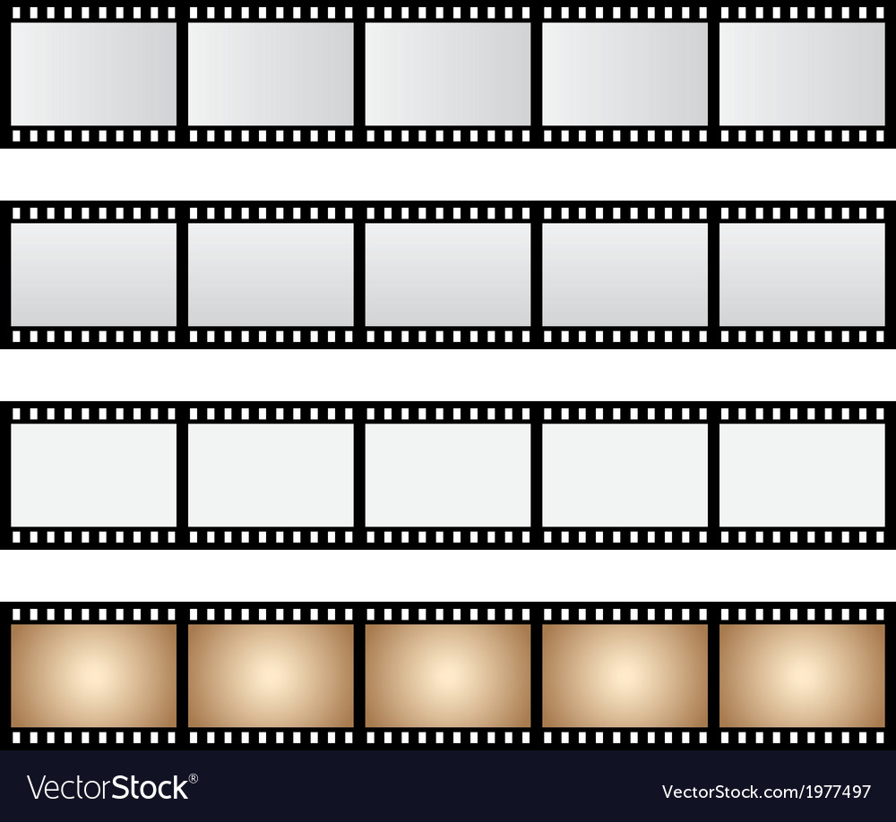 Pack film strip isolated vector | Price: 1 Credit (USD $1)