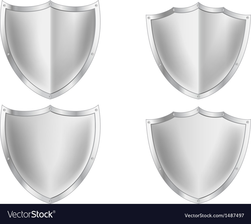 Silver shield collection vector | Price: 1 Credit (USD $1)