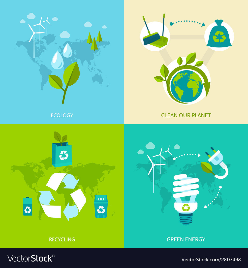Ecology and recycling set vector | Price: 1 Credit (USD $1)