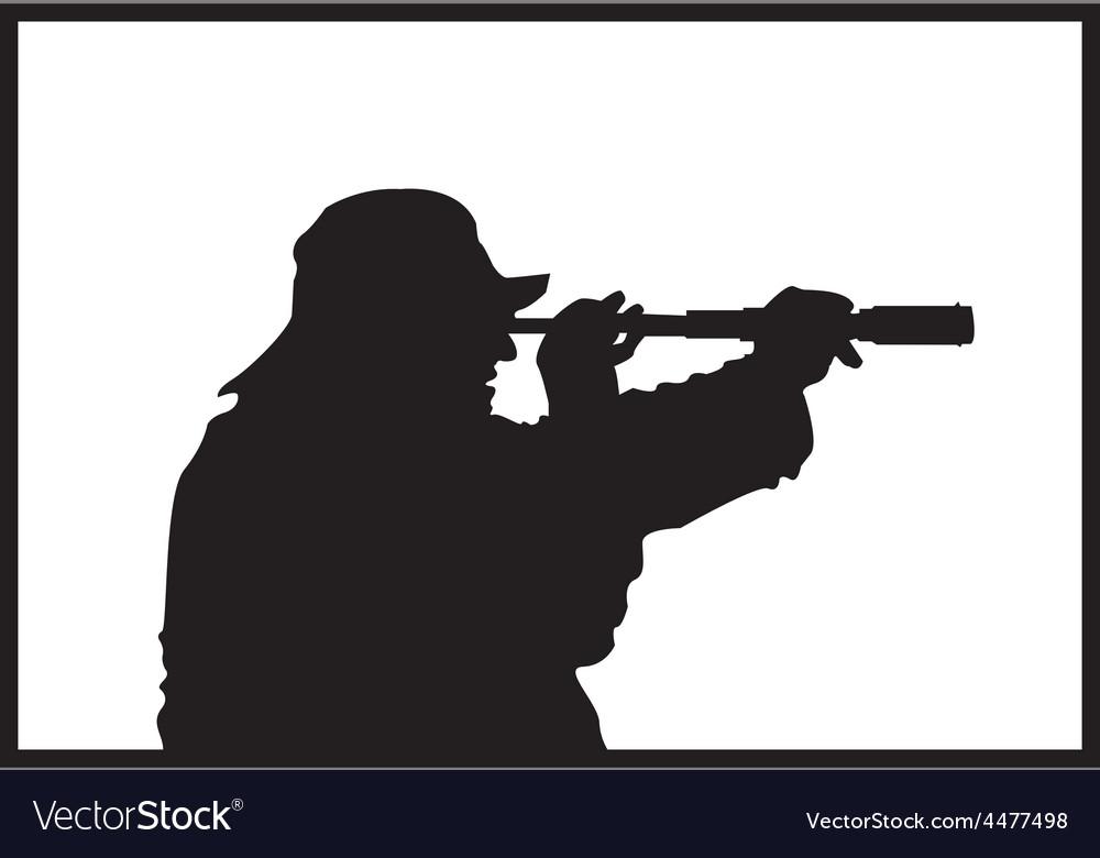 Fisherman silhouette vector | Price: 1 Credit (USD $1)