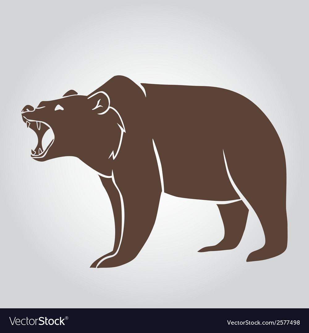 Grizzly bear vector | Price: 1 Credit (USD $1)