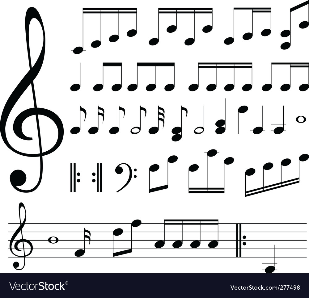Musical signs note vector | Price: 1 Credit (USD $1)