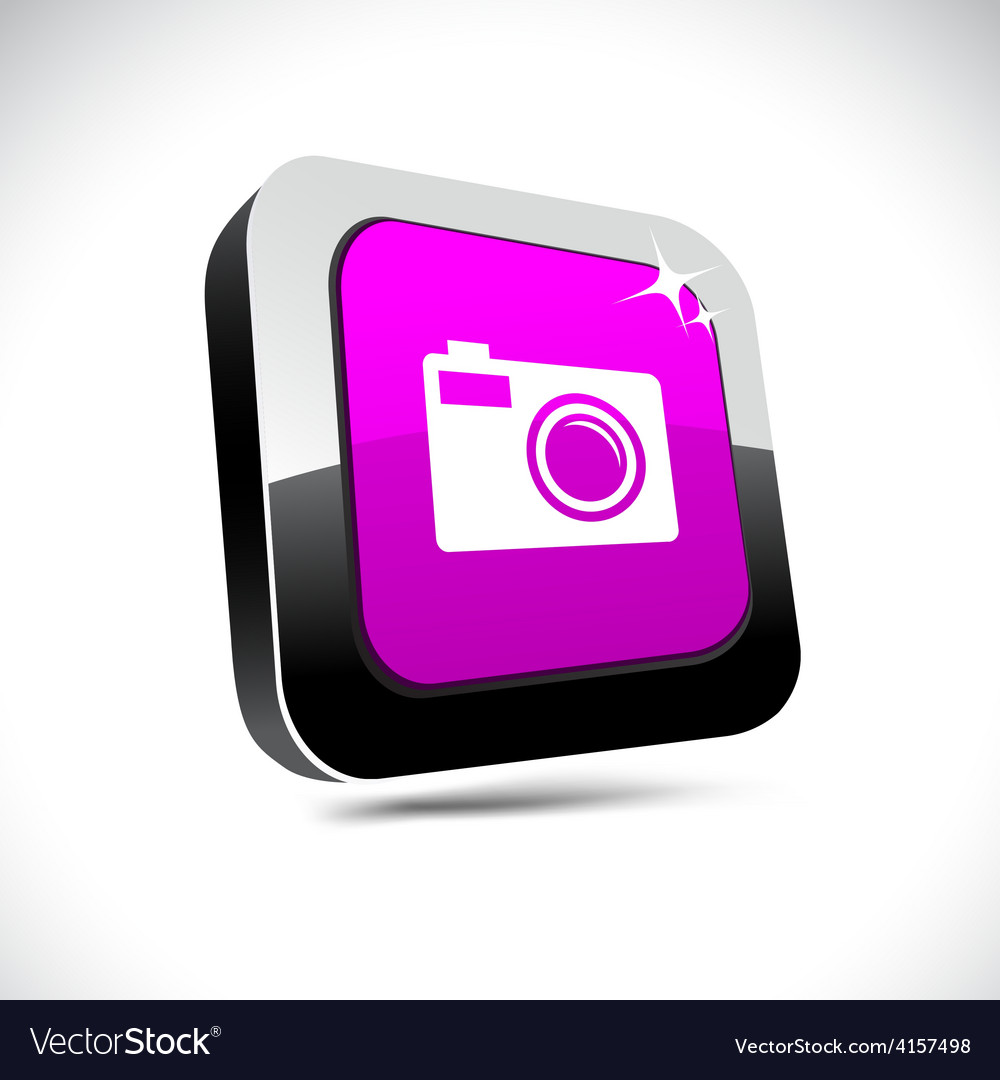 Photo 3d square button vector | Price: 1 Credit (USD $1)